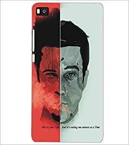 PRINTSWAG HALF FACE QUOTE Designer Back Cover Case for HUAWEI P8