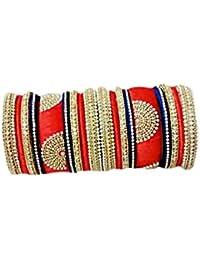 Evelyn Silk Thread Jewellery Collections Multi Colour Silk Thread Bangle Set For Women