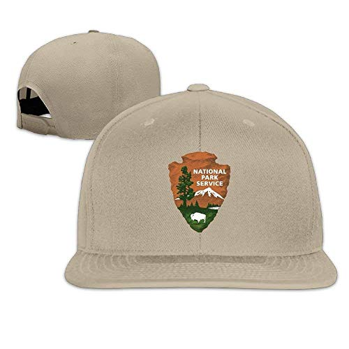Osmykqe Adult Baseball Cap Mens/Womens National Park Services Flat Bill Cool White Hats GH870