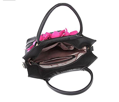 Frauenfarbe Breiter Schultergurt Weiblicher Beutel 2017 Blume Retro- Handtaschen-Schulterbeutel A1
