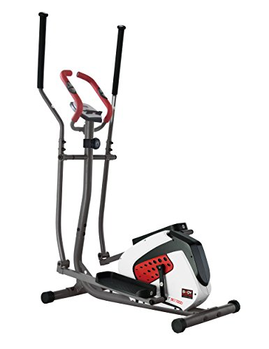Body Sculpture Unisex the Magnetic Elliptical Cross Trainer with Hand Pulse Sensor, White/Red/Black