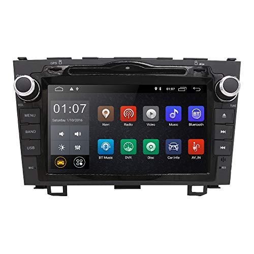 hizpo 8-Zoll-Doppel-Din-Autoradio-Radio-DVD-Player Spiegelverbindung GPS Bluetooth SD USB WiFi DAB + Lenkradsteuerungs-EQ-Cam für Honda CRV 2007 2008 2009 2010 2011