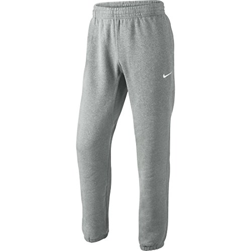 Nike Club Cuff-Swoosh Pantaloni, Dark Grey Heather/White, M