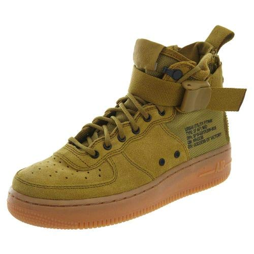 Nike SF AF1 Air Force Mid GS Hi Top Trainers AJ0424 Sneakers Schuhe (UK 4.5 us 5Y EU 37.5, Desert Moss 300)