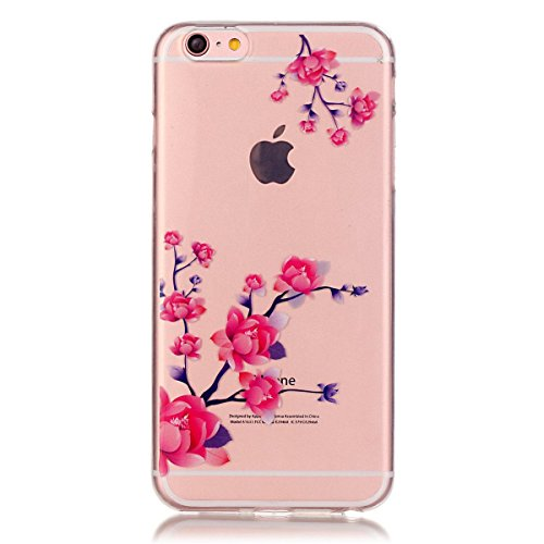 iPhone 6S Plus Hülle Case,iPhone 6 Plus Hülle Case,Gift_Source Fashion Colorful Silicone Protective Hülle Case Premium Flexible Transparent Soft TPU Slim Hülle Case Cover für iPhone 6S Plus/6 Plus [Be E01-05-Flower