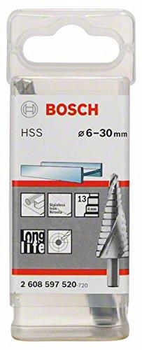 Bosch 2 608 597 2608597520 - Fresa a gradini HSS 4-30 mm, 10,0 mm, 100 mm