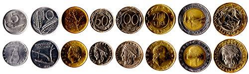 ITALIENISCHE 8 MÜNZEN GESETZT 1951-2001 UNC ITALIENISCHEN 5-1000 Lire. ALTE AUSLÄNDISCHE MÜNZEN, SAMMLER MÜNZEN FÜR IHRE MÜNZENALBUM, Inhaber DER MÜNZE ODER Medaille Sammlung (Gold Münzen Welt Der)