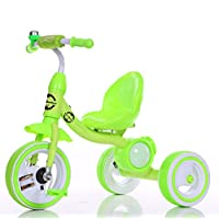 LittleBambino Kids Tricycle for Child and Toddler Metal Trike n Ride Bike Outdoor Toy - Green