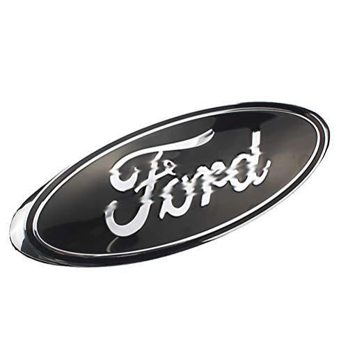 FORD Auto Dekoratives Logo - Ford Frontgrill Refit-Zubehör, galvanisiertes Logo für Ford (Schwarz) (Expedition Ford)