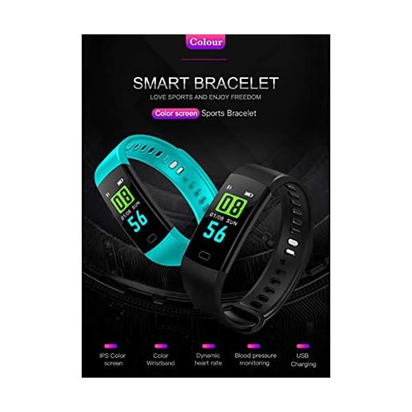Milnnare Reloj Inteligente Presión Arterial Frecuencia cardíaca Monitor de sueño Podómetro Sports Fitness Smart Pulsera - Purple 7
