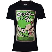 Super Mario Nintendo Yoshi Camiseta Negro L b28a5baf3d4