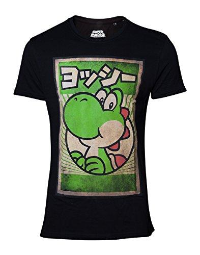 Super Mario Propaganda Yoshi T-Shirt , Black
