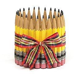 A + Teacher Collection Bleistift Form Übertopf/Vase für Lehrer, Klassenzimmer, Student, Home Decor