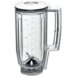 Bosch MUZ5MX1 - Accesorio de vaso para robot de cocina de la serie MUM5, color blanco y transparente