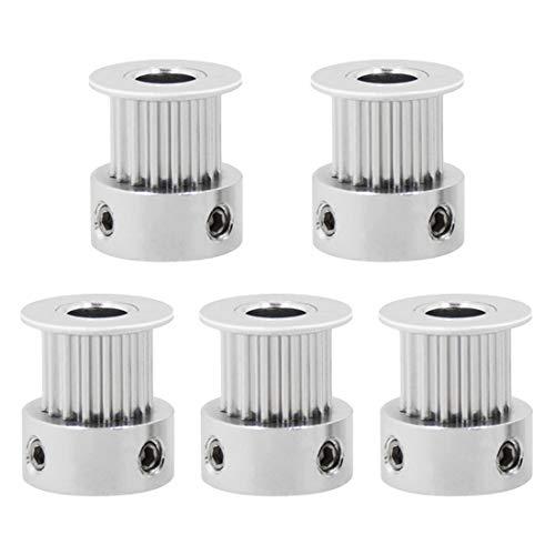 1 / 5pcs GT2 16T Aluminium Zähne 5mm Bohrung Zahnriemenscheibe für 3D Drucker Teile Kraftübertragung