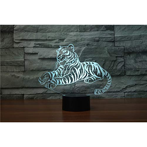 3D Night Light 7 Cambio de color Tiger Vision Light Kids...