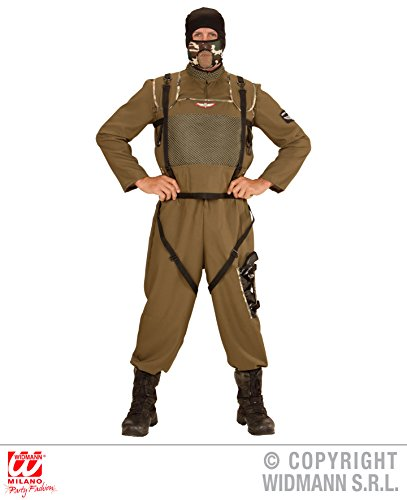 KOSTÜM - SPECIAL FORCES - Größe 52 (L), Fallschirmjäger Fallschirmspringer Tarnanzug Kampfkleidung Armee (Männer Fallschirmjäger Für Kostüm)