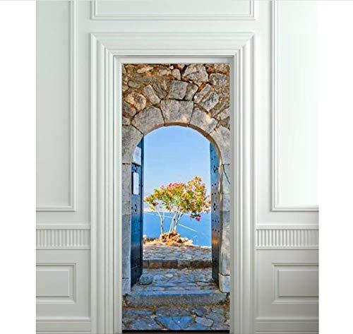 PANDABOOM 77X200 cm Griechischen Bogen Bild Wandbild Tür Aufkleber Tapete Aufkleber Dekoration Schlafzimmer Kinderzimmer