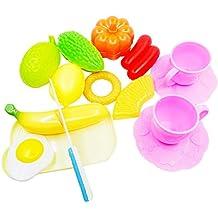 258a5bebe65dd9 Liuer 15PCS Giocattolo Frutta da Tagliare,Taglio Frutta Verdura Tagliando  Set Gioco per Bambini Accessori