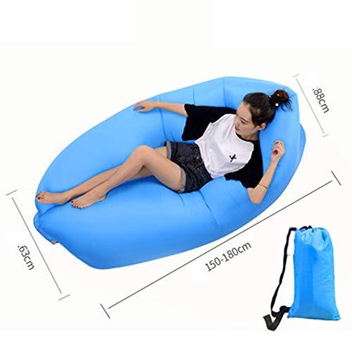 DZSF Aufblasbare Matratze Schlafmatte Outdoor Faul Tragbare Sofa Net Red Bag Luftmatratze Camping Klappbett Luftbett Stuhl Single (Pad Schlafsack Schaum)