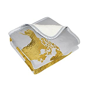 Oro Mapa del mundo gran tamaño manta mantas para sofá sofá tela de poliéster rey Reina tamaño camas sala de decoración para el hogar ropa de cama colcha para sofá