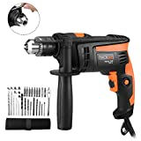 Compact Drill, Tacklife PID01A Hammer Drill 1/2-Inch Variable Speed 5.8 Amp Rotary HammerDriver