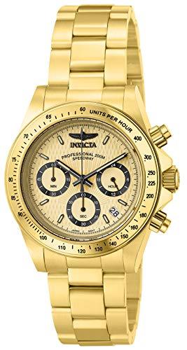 Invicta 14929 Speedway Reloj Unisex acero inoxidable Cuarzo Esfera oro