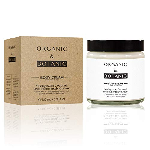 Organic & Botanic Crème pour Corps Beurre de Karité/Noix de Coco de Madagascar 100 ml