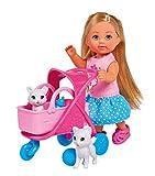 Simba Cat Buggy Evi Love con Portacuccioli e Due Gattini, Colore, 105733348