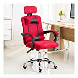QWERTY Sedie da Girevole Ergonomico Massaggio, Sedia da Ufficio E da Gaming, for I Giocatori (Color : Red, Size : Without footrest)