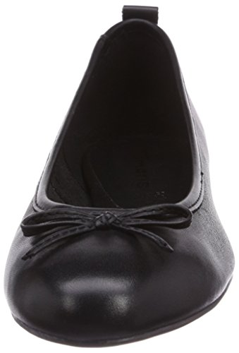 Tamaris 22122 Damen Geschlossene Ballerinas Schwarz (Black 001)