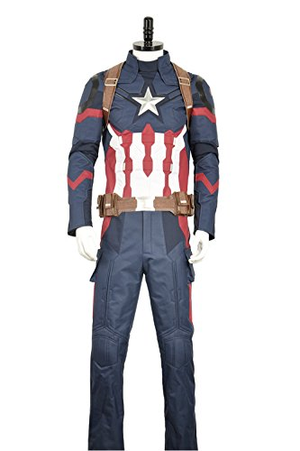cosplayfly Erwachsene Captain America Steve Roger Oxford Stoff Cosplay Kostüm Custom für Erwachsene Gr. Männlich S, as (Captain Cosplay America Kostüme)