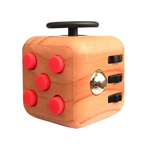 #Kadcope Stresswürfel wie Fidget Cube als perfektes Spielzeug für unterwegs, bei der Arbeit oder im Wartezimmer (Holzmaserung)#