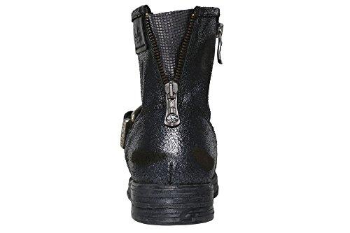 REPLAY Miya Stiefel Stiefeletten Biker Boots Damen Leder Anthrazit
