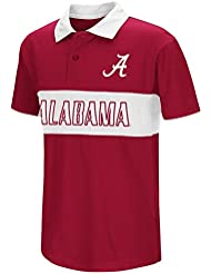 "Alabama Crimson Tide NCAA ""Setter"" Youth Jeunes Performance Polo shirt Chemise"