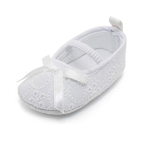 OOSAKU bebés niñas y niños pequeños de Encaje Floral Bowknot Bautizo Blanco Bautismo Antideslizante...
