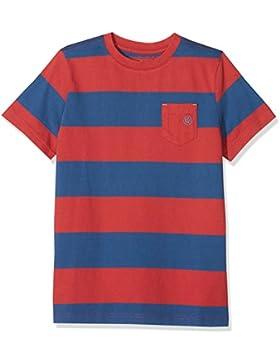 Fat Face Block Stripe, Camiseta para Niños