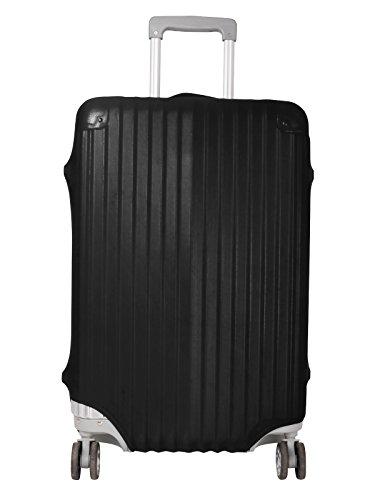 Tiaobug Koffer Schutz Schutzhülle Kofferschutzhülle Kofferbezug Luggage Cover S M L für verschiedene Größe, Schwarz (Large- Schwarz) (Folie Elasthan)