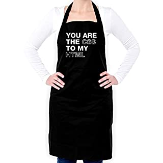 You Are The CSS To My HTML - Unisex Fit Apron-Black