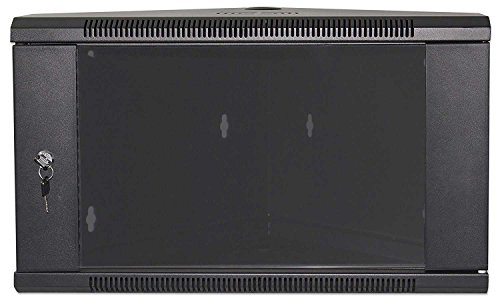 Preisvergleich Produktbild kab24® Eckschrank Netzwerkschrank Serverschrank Wandhehäuse Netzwerk Wandschrank Wandverteiler SOHO Schrank schwarz 19 Zoll 6 HE H:37 x B:60 x T:60cm