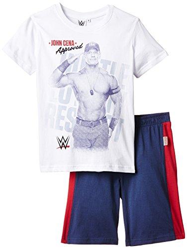 wwe-set-mare-wrestling-t-shirt-garcon-multicolore-bianco-grigio-melange-taille-12