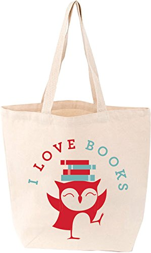 I Love Books Bird Tote Bag (Lovelit)