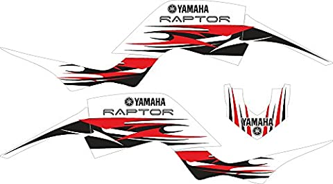 Yamaha Raptor 660rot und weiß individuell Graphics Aufkleber Aufkleber Kit