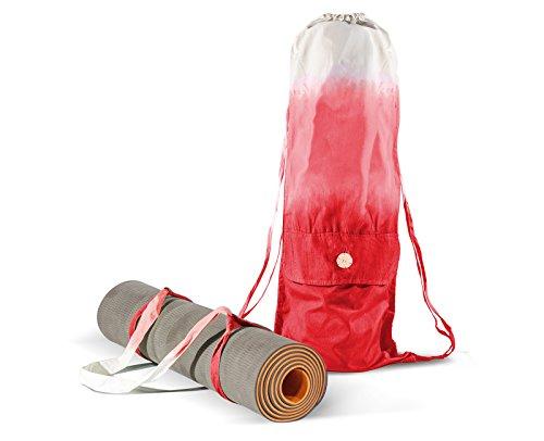 Yogamatten Tasche mit Riemen – in allen Größen – Bio-Baumwolle, Handarbeit – große Trage Tasche als cooler Rucksack – für Yoga Pilates Fitness Freizeit – Yogamatte nicht inbegriffen