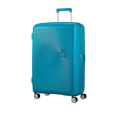AMERICAN TOURISTER Soundbox - Spinner 77/28 Expandable Equipaje de mano, 77 cm, 97 liters, Turquesa (Summer Blue)