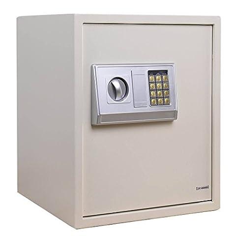 54L Coffre-fort numérique en acier Boîte de sécurité électronique de sécurité maison argent Cash–Garder Votre Argent Stuff et lave-vaisselle.