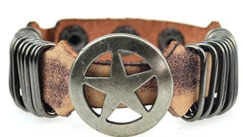 SaySure - Handmade Vintage Braided Genuine Leather Bracelets