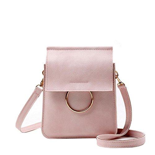 Pu Shoulder Tote Bag (Transer  Women Shoulder Bag Popular Girls Hand Bag Ladies PU Leather Handbag, Damen Schultertasche Mehrfarbig grün 15cm(L)*20(H)*4cm(W), rose (Mehrfarbig) - CQQ60901348)