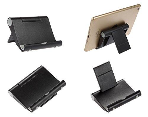"""BRALEXX Universal-Halterung Tisch-Ständer Tablet-Halter für Tolino Reihe schwarz ( Tolino Shine 1 und 2, Tolino Vison 1, 2, 3 HD, 4 HD, Page, Tab 7 \"""" 8 \"""" 8,9 \"""" Zoll uvm.)"""