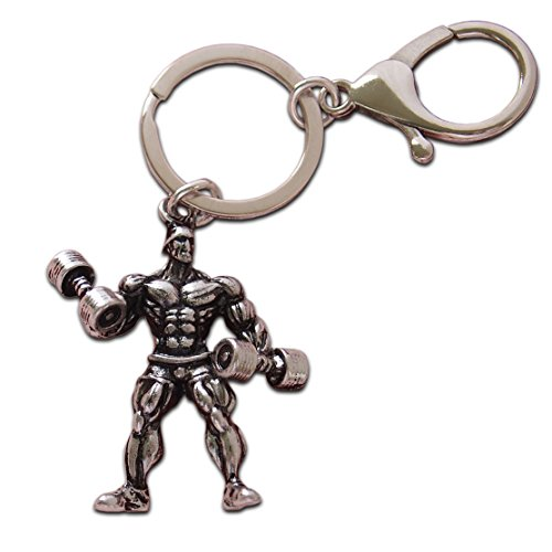 Price comparison product image Luxury Keychain Dumbbell Weight Fitness Gym Keyring for Bodybuilder Gift for Bodybuilding & Weightlifting Fitness Gifts Mini Barbell Big & Muscular